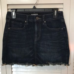 Express Denim Mini Skirt
